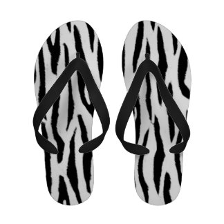 Black and White Tiger Print Sandals
