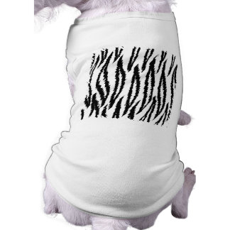 Black and White Tiger Print Pattern. Dog Clothes