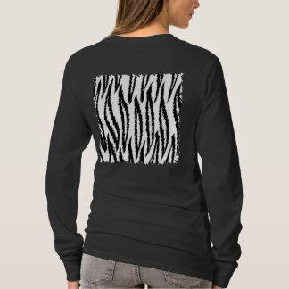Black and White Tiger Print Pattern. T-Shirt