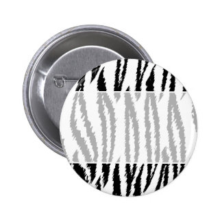 Black and White Tiger Print. Tiger Pattern. Button