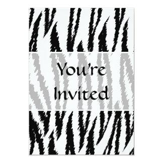 Black and White Tiger Print. Tiger Pattern. Card