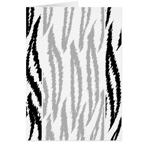 Black and White Tiger Print. Tiger Pattern. Cards