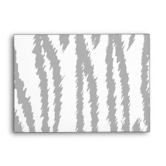 Black and White Tiger Print. Tiger Pattern. Envelope