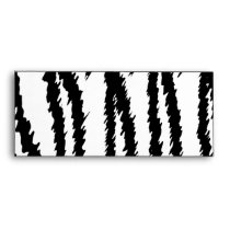 Black and White Tiger Print. Tiger Pattern. Envelope