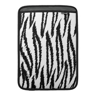 Black and White Tiger Print Tiger Pattern MacBook Air Sleeve