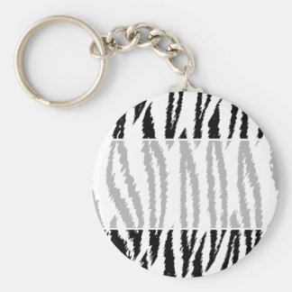 Black and White Tiger Print. Tiger Pattern. Keychain