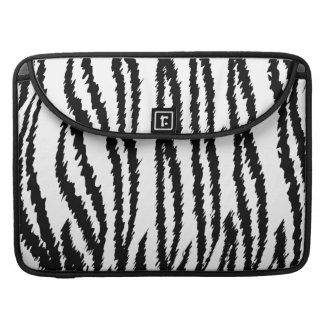 Black and White Tiger Print Tiger Pattern Sleeves For MacBook Pro