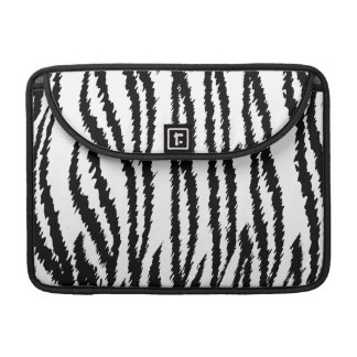 Black and White Tiger Print Tiger Pattern Sleeve For MacBook Pro