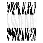 Black and White Tiger Print. Tiger Pattern. Postcard