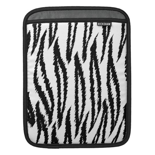 Black and White Tiger Print. Tiger Pattern. Sleeve For iPads
