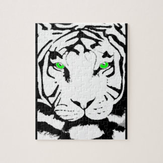 BLACK AND WHITE TIGER PUZZLE
