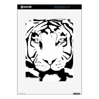BLACK AND WHITE TIGER SKIN SKIN FOR THE iPad 2