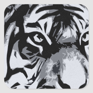 black and White Tiger Stickers