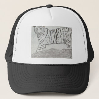 Black and White Tiger Trucker Hat