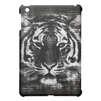 Black and White Tiger Vintage  iPad Case