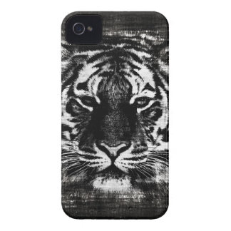 Black and White Tiger Vintage iPhone Case iPhone 4 Cover
