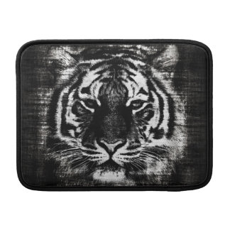 Black and White Tiger Vintage Macbook Air Sleeves
