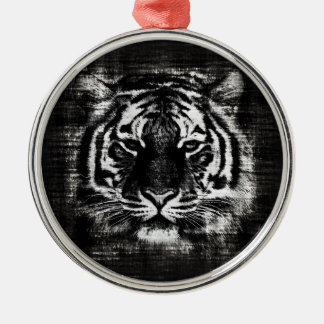 Black and White Tiger Vintage Ornaments