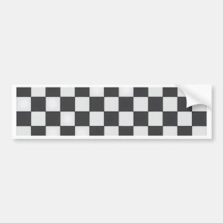 Black and white tiled Floor surface Bumper Sticker