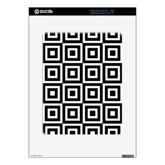 Black and White Tiles Decal For The iPad