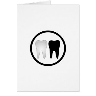 Black and white tooth card
