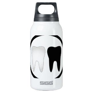 Black and white tooth thermos bottle
