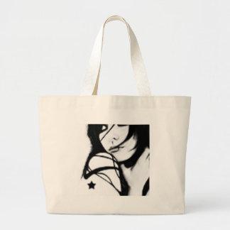 Black and White Tote Jumbo Tote Bag