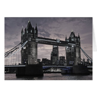 Black and White Tower Bridge London River Thames Card