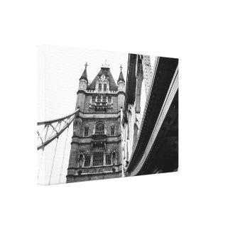 Black and White Tower Bridge Photograph Canvas Print