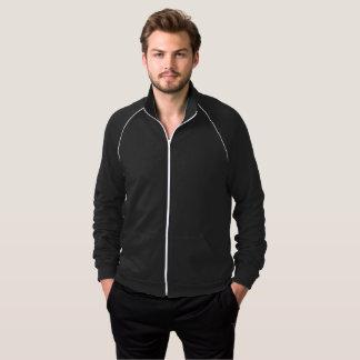 Black and White Track Jacket for Men