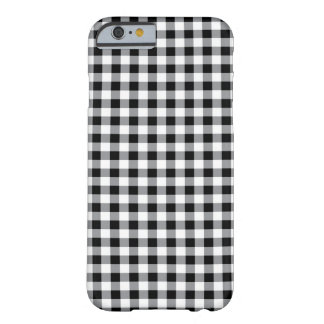 Black and white traditional Gingham pattern case Barely There iPhone 6 Case