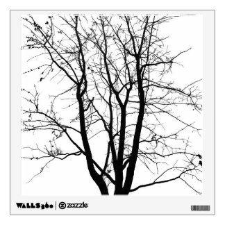Black and white, tree and sky wall decal