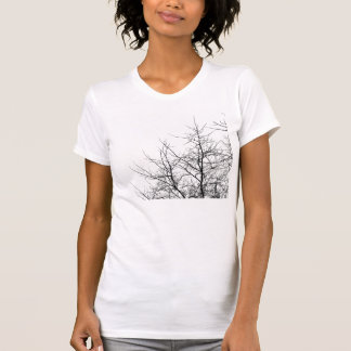 Black and White Tree Branches Tee Shirt