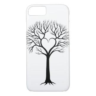 Black and White Tree Heart Design Case