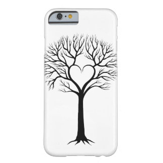 Black and White Tree Heart Design Case Barely There iPhone 6 Case