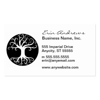 Black and White Tree of Life Business Card