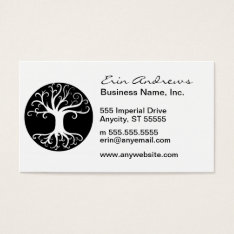Black And White Tree Of Life Business Card at Zazzle