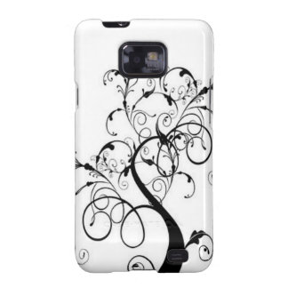 Black And White Tree Of Life Samsung Galaxy S2 Cases