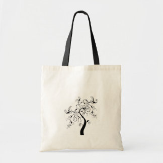 Black And White Tree Of Life Tote Bag