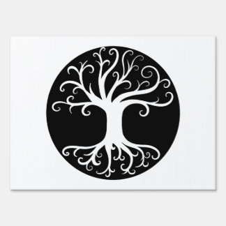 Black and White Tree of Life Signs
