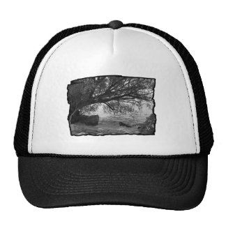 Black and White Tree Silhouette Hat