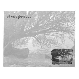 Black and White Tree Silhouette Notepad