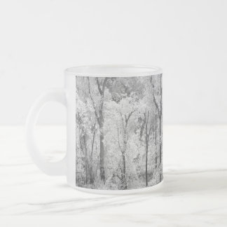 Black and White Trees on Frosted Mug