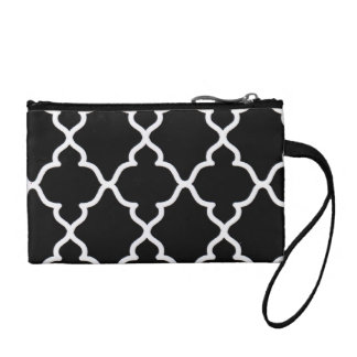 Black and White Trellis...coin purse