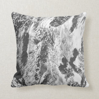 Black and White Trendy Marble Pillow