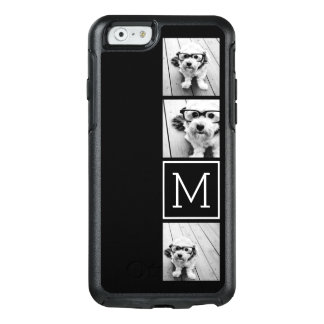 Black and White Trendy Photo Collage with Monogram OtterBox iPhone 6/6s Case