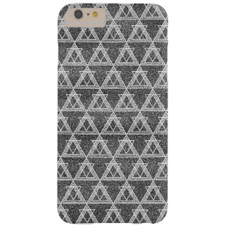Black and White Triangle Geometric Pattern Barely There iPhone 6 Plus Case