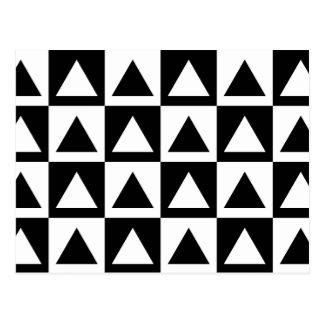 Black and White triangle geometric shape pattern Postcard