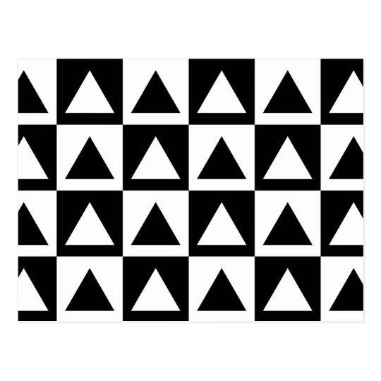 Black And White Triangle Geometric Shape Pattern Postcard Zazzle Com
