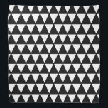 """Black and White Triangle Pattern Bandana<br><div class=""""desc"""">This cute bandana is the perfect accessory for you,  your child or your favorite dog.</div>"""
